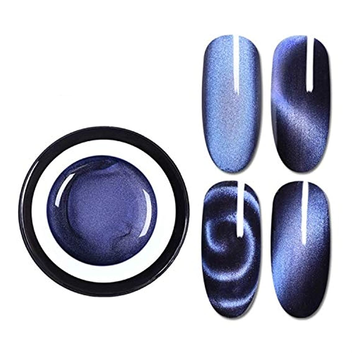 速報ハイランドシャークファッションアイテム 生まれたプリティマジックボックスプラスチック5 Dキャットアイ接着剤3Dバラエティダブルヘッドマグネットキャットアイ接着剤2色キャットジェル(BP-MSS01)グラデーションネイル接着剤 環境に優しい...