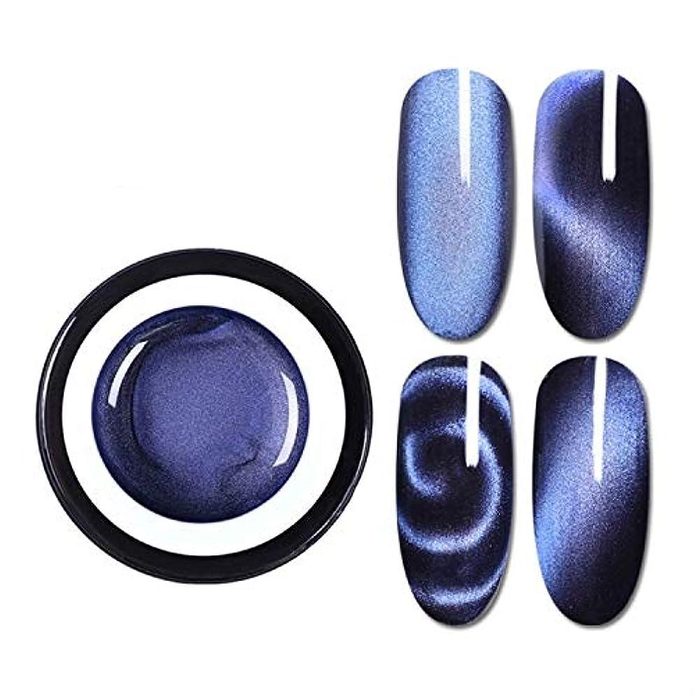 仲間労働捕虜ファッションアイテム 生まれたプリティマジックボックスプラスチック5 Dキャットアイ接着剤3Dバラエティダブルヘッドマグネットキャットアイ接着剤2色キャットジェル(BP-MSS01)グラデーションネイル接着剤 環境に優しい...