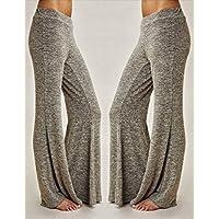 wyhuiジョギングパンツエレガント女性用Wide Leg低ウエストヨガパンツブラックXL