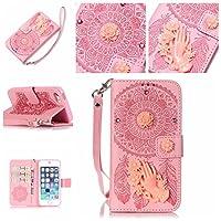 iPhone SE 5SE 5 5S ホルスター シェル フリップ, LoveBee カバー Suit プレミアム 垂直 レザー ポーチ スリーブ 携帯 シェル Accessories 〜と カード スロット ホルスター の iPhone SE 5SE 5 5S (Pink)