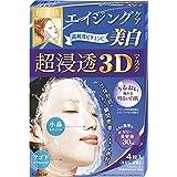 日亚:Kracie嘉娜宝肌美精立体3D超浸透美白补水面膜4枚 返点后587日元,约¥34.5