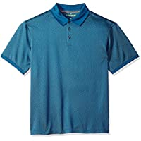 Haggar Mens 555042 Short Sleeve in-Motion Polo Short Sleeve Polo Shirt - Multi
