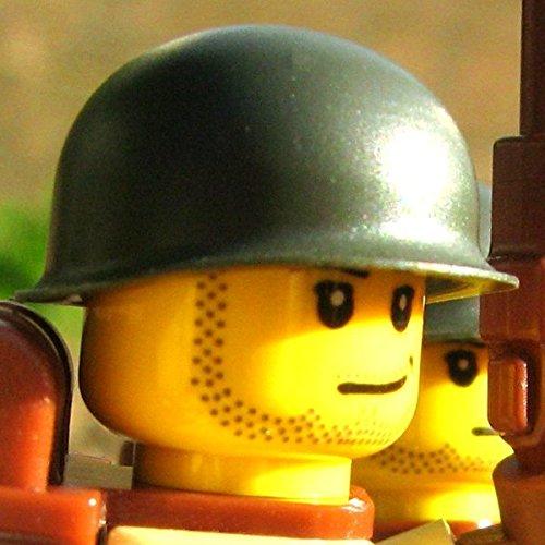 M1ヘルメット LEGOカスタムパーツ アーミー 装備品 武器 (オリーブドラブ)