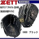 ゼット(ZETT) 軟式用グラブ 阪神 藤浪選手モデル BRGB19T ブラック 右投用