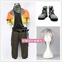 「COSCOOL」ファイナルファンタジーXIII FF13 ホープ・エストハイム (Hope Estheim) コスプレ衣装+靴+ウィッグ 変装 仮装 コスチューム