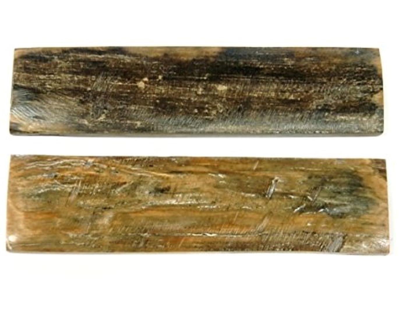 実行するモスクボーナスナイフ用ハンドル材 323163 ミデアムバーク 6x25x90 (2枚1組)