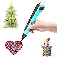 LMYSTAR 3d フィラメント 3Dペン スピード調整機能 3Dプリントペン ABS PLA フィラメントDIY知育 おもちゃ (第3世代 - 青)