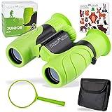 Monte Stivo Junior | Kids Binoculars 8X21 | Light & Compact Toy for Children Designed for Young Explorers & Adventurers (Green)
