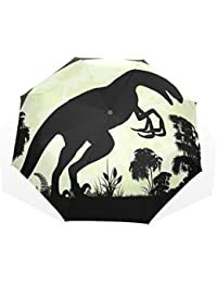 AOMOKI 折り畳み傘 折りたたみ傘 手開き 日傘 三つ折り 梅雨対策 晴雨兼用 UVカット 耐強風 8本骨 男女兼用 恐竜