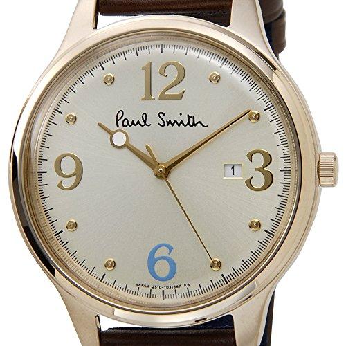 ポールスミス 腕時計 BC5-326-90 The City ザ・シティ シルバー×ゴールド×ブラウン 革ベルト メンズ Paul Smith [並行輸入品]
