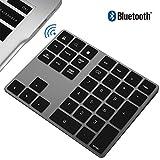充電式 テンキー 数字キーパッド ワイヤレス ブルートゥース bluetooth 34キー 入力番号パッド アルミニウム 持ち運び便利 Windows PC Android iOS Tablets MacBook対応