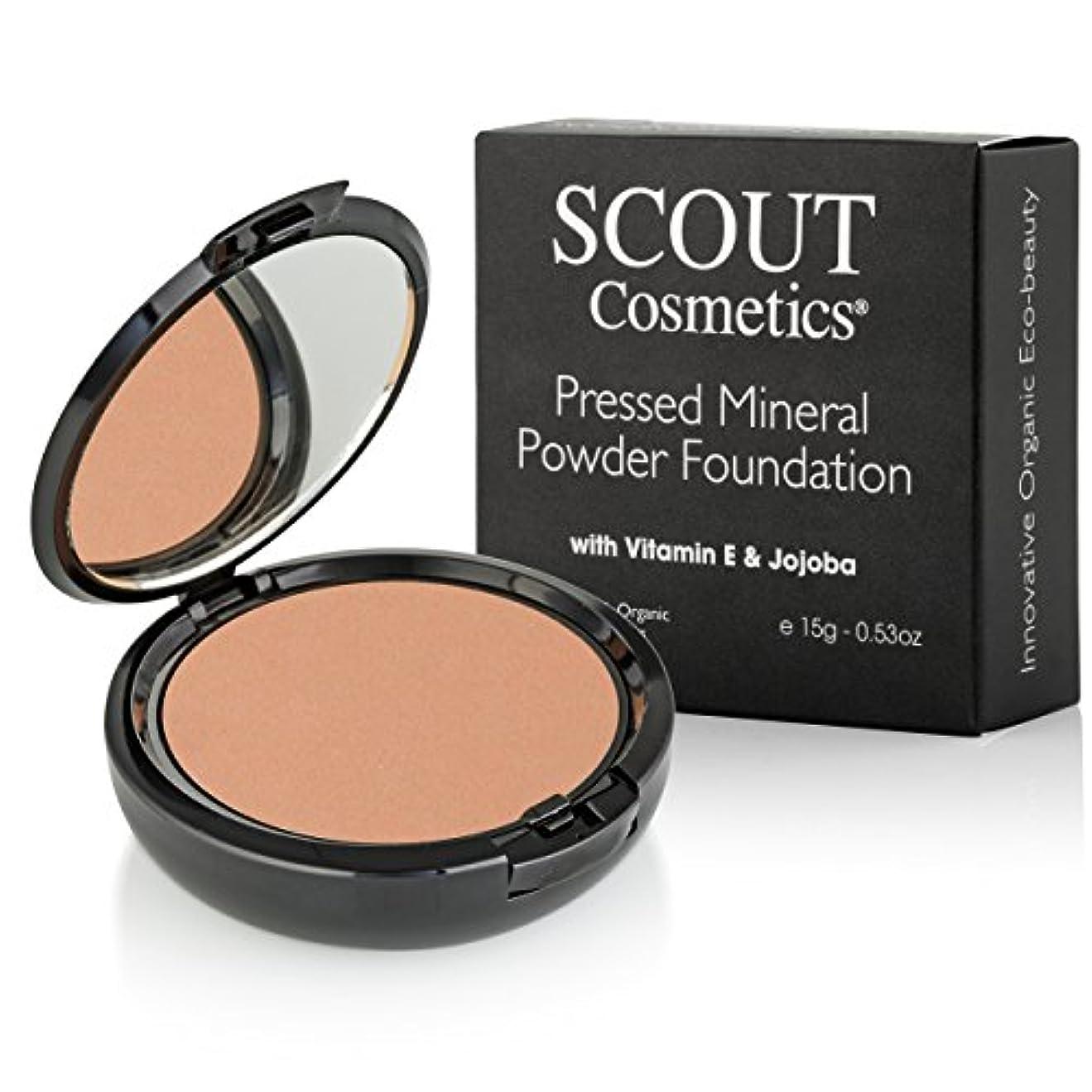 進捗コート夕食を食べるSCOUT Cosmetics Pressed Mineral Powder Foundation SPF 15 - # Almond 15g/0.53oz並行輸入品