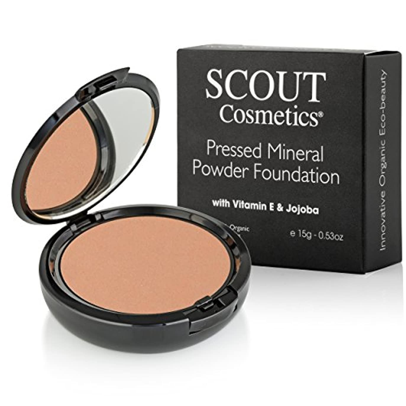 スリムずらす廃棄するSCOUT Cosmetics Pressed Mineral Powder Foundation SPF 15 - # Almond 15g/0.53oz並行輸入品