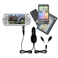 GomadicデュアルDC車オートミニ充電器Designed for the Sony psp-2001 Playstation Portable – Uses Gomadic複数のデバイスを充電するin Your Car