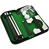 Allnice Executive Gift Portable Golf Putter Set Kit with Ball Hole-Cup for Travel Indoor Golf Putting Practice