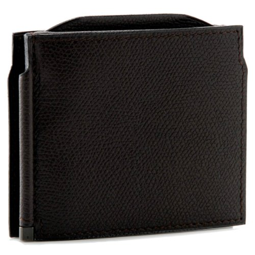 Valextra(ヴァレクストラ) 財布 メンズ グレインレザー マネークリップ ダークブラウン V0L54-028-000TRD[並行輸入品]