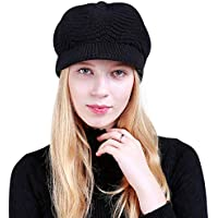 db919ab4 DORRISO Fashion Beret Cap Autumn Winter Plain Warm Leisure Vacation Travel  Street Style French Beret Womens