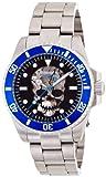[ブルッキアーナ]BROOKIANA 腕時計 機械式  スカル スケルトン BA1672-BKBL メンズ