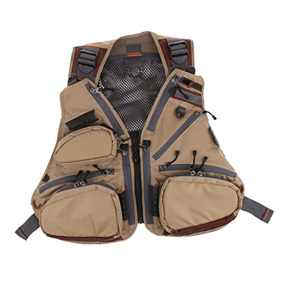 ブロック馬鹿げたムスタチオhomyl通気性メッシュフライフィッシングベスト釣りジャケットチョッキ、旅行狩猟、