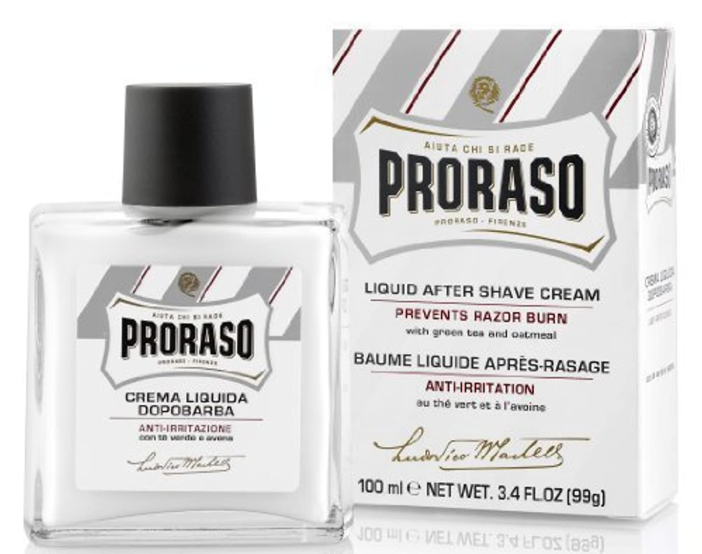 受付自動車こだわりProraso Proraso Liquid Cream After-Shave 3.4oz by Proraso [並行輸入品]
