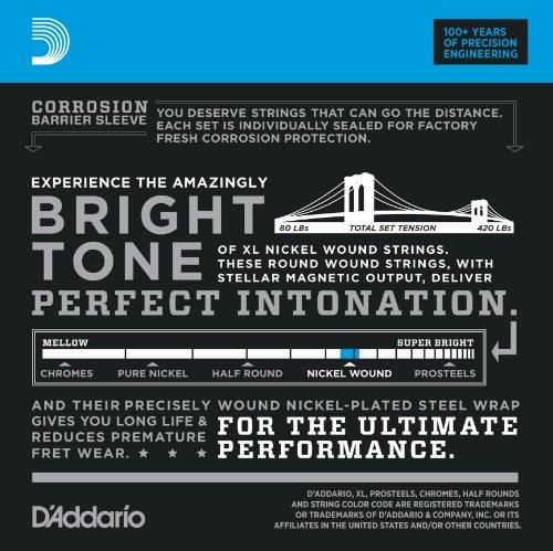 D'Addario ダダリオ ベース弦 ニッケル Long Scale .040-.095 EXL220TP 2setパック 【国内正規品】
