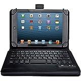 IVSO オリジナル Lenove ThinkPad 8 用PUレザーケース(7-8インチのタブレットにも適用)  マグネット着脱可能 一体型Bluetoothワイヤレスキーボード (ブラック)