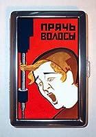 1920年代ロシアWorkerヘアCaught inマシン。IDウォレットorシガレットケースアメリカ製