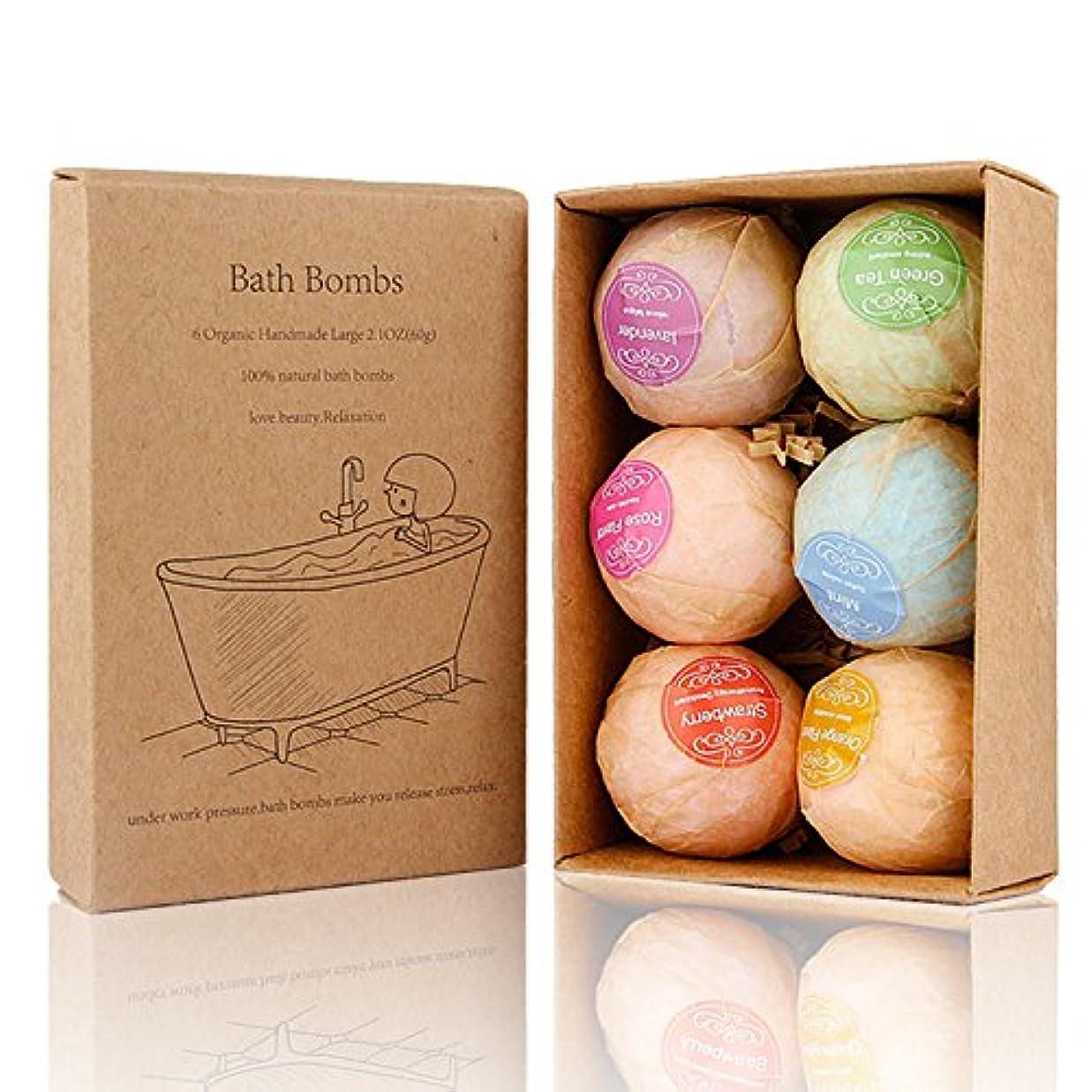 溶けた鋸歯状害Bath Bomb, 温泡 入浴剤 ギフトセット6個入り, Perfect for Bubble & Spa Bath Ultra Lush Bath Fizzies