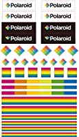 (Polaroid Logo) - Polaroid Colourful & Decorative Polaroid Logo and Colours Stickers for Zink 2x3 Photo Paper Projects (Snap, Zip, Z2300) - Pack of 3