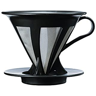 HARIO (ハリオ) ドリッパー カフェオール コーヒー ドリップ 1~4杯用 ブラック CFOD-02B