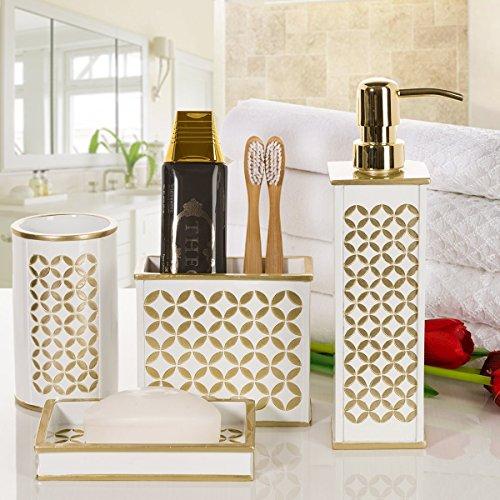 [クリエイティブセント]Creative Scents Diamond Lattice Soap Dish for Bathroom Decorative Dry Bar Holder Durable Resin [並行輸入品]