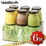 【バニラヤ】バニラ・カカオ・抹茶プリン6個セット /母の日/ギフト/プレゼント