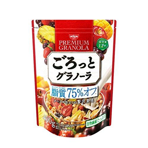 日清シスコ ごろっとグラノーラ 脂質75% オフ メープル仕立ての贅沢果実 400g×6袋