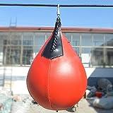 Forfar 1Pc 梨形状のPUボクシングトレーニングのサンドバッグボール パンチングボクサートレーニングキックボクシング