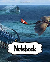 Notebook: How To Train Your Dragon Hidden Dragon World Toothless Night & Light Fury The Viking Village Hiccup Astrid Cute Couple , A Large Notebooks With Blank Paper For Drawing And Writting: Artist Edition Kids Adults Paper 7.5 x 9.25 Inches 110 Pages.