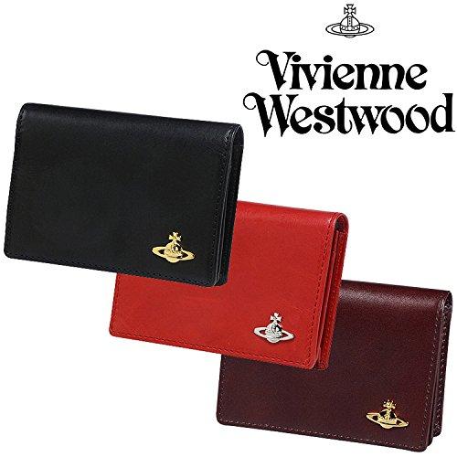 ヴィヴィアンウエストウッド 国内正規品 ヴィンテージ WATER ORB レザー カードケース 本革 名刺入れ ヴィヴィアンウェストウッド Vivienne Westwood (ブラック)