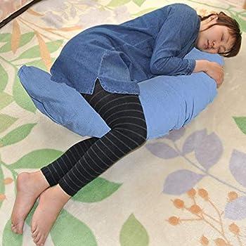 マルチに使える ベビー&ママクッション シムス 抱き枕 授乳 お座りサポート (デニムブルー)