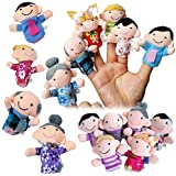 Finger Dolls,6 Pcs Finger Family Puppets Cloth Doll Props for Kids Toddlers Educational Toy
