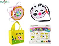 (Set 1) - Sewing Kit for Kids Beginners 3 Pack Girls Sewing Project Pattern Bag Handbag by MeMo Toys (Set 1)