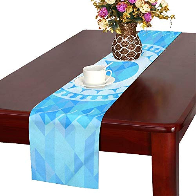 GGSXD テーブルランナー 面白い ブルー猫 クロス 食卓カバー 麻綿製 欧米 おしゃれ 16 Inch X 72 Inch (40cm X 182cm) キッチン ダイニング ホーム デコレーション モダン リビング 洗える