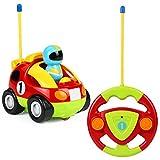 TOQIBO RC カー 車おもちゃ 子供おもちゃ 知育玩具 知育おもちゃ 赤ちゃん おもちゃ 贈り物 操作簡単 音楽と華やかな光 超Qな外形デザイン 視覚能力を鍛錬 想像力を刺激