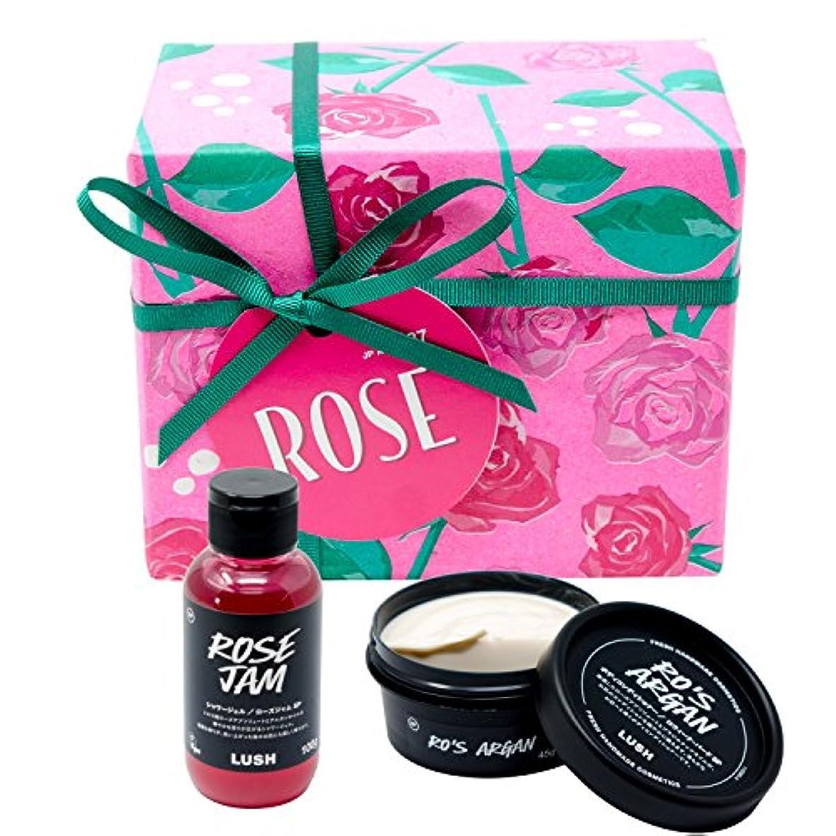 配置花弁除外する(ラッシュ) LUSH Rose ローズ ギフトセット ショップバッグ付き