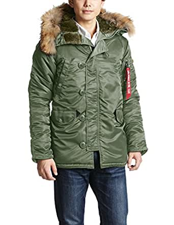 (アルファインダストリーズ) ALPHA INDUSTRIES INC N-3B TIGHT REAL FUR 20094-08 03 VNTAGE GREEN L