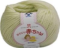 ハマナカ かわいい赤ちゃん 毛糸 並太 col.14 黄緑 系 40g 約105m 5玉セット 2202