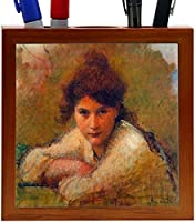 Rikki Knight Jan Toorop Art Three Women Design 5-Inch Wooden Tile Pen Holder (RK-PH3440) [並行輸入品]