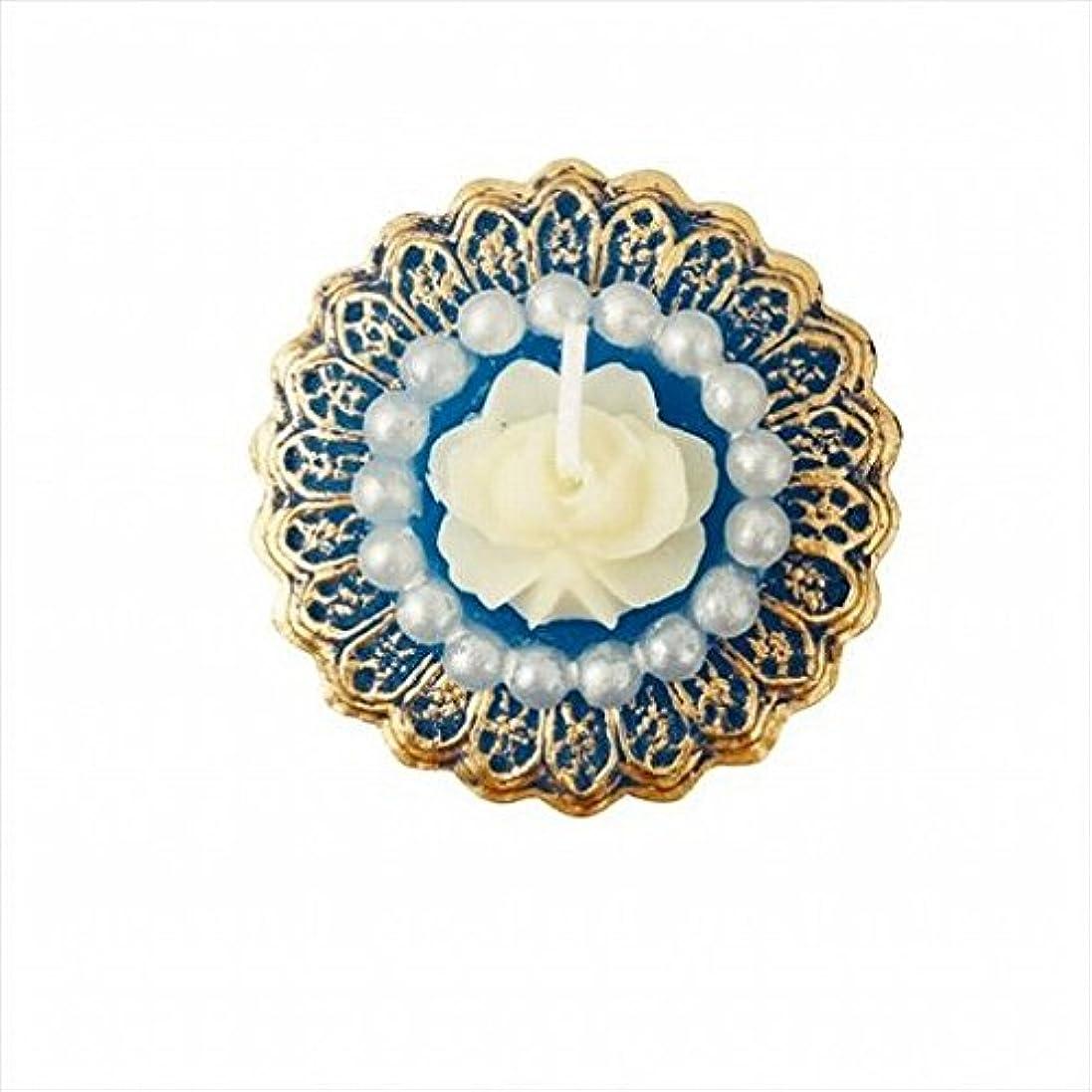 のぞき穴相対サイズ横たわるkameyama candle(カメヤマキャンドル) アンティークジュエリー 「 ブルーローズシェル 」 キャンドル 48x48x24mm (A4380020)