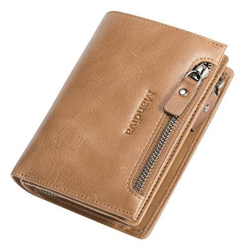 Mandiva 財布 小銭入れ メンズ 本革 コインケース (キャメル)