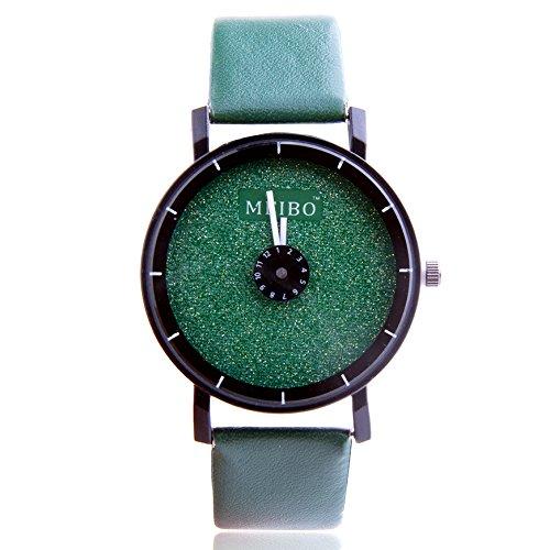 ZooooM カラフル シンプル デザイン 文字盤 アナログ ウォッチ 腕 時計 ファッション アクセサリー おもしろ カジュアル メンズ レディース 男性 女性 男 女 兼 用 ( グリーン ) ZM-WATCH2-944-GR