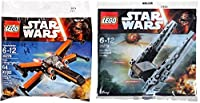 Lego Star Wars Kylo Ren's Command Shuttle & Poe's X- Wing Fighter Starship set - Polybag 30279 + 30278 edition Building