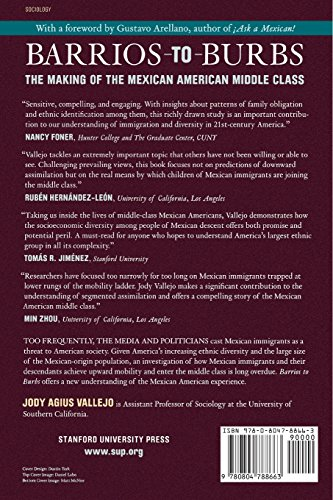 middle class and barrios Agius vallejo, jody barrios to burbs : the making of the mexican-american middle class palo alto, ca, usa: stanford university press, 2012 proquest ebrary.